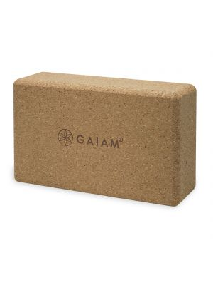 Gaiam Cork Brick Yoga Block