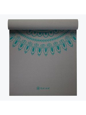 Gaiam Yoga Mat Teal Marrakesh Longer