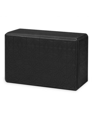 Gaiam Embossed Black joogablokki