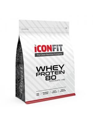 Iconfit Whey Protein 80 1kg STEVIALLA makeutettu suklaa