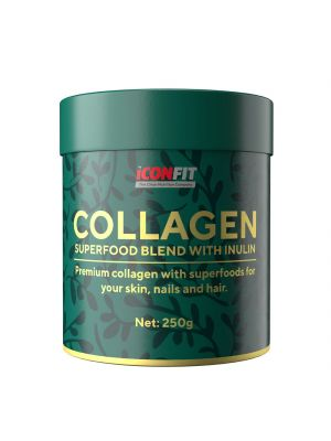 Iconfit Collagen Superfoods + Inulin 250g Raakakaakao ja marjat