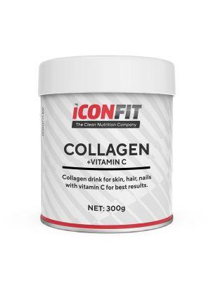 Iconfit Collagen + Vitamin C - iho, kynnet, hiukset, 300g Appelsiini