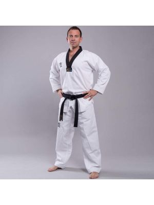 Wacoku Ribbed Black taekwondopuku