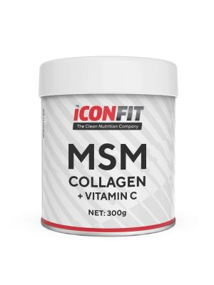 Iconfit MSM Collagen + Vitamin C 300g Apelsiini