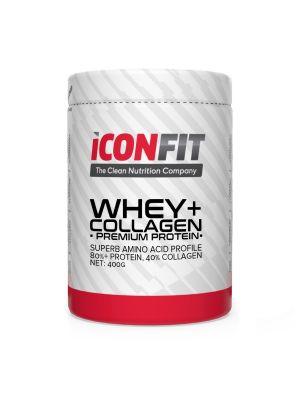 Iconfit WHEY+ Collagen - Premium Protein - - Mansikka 400g