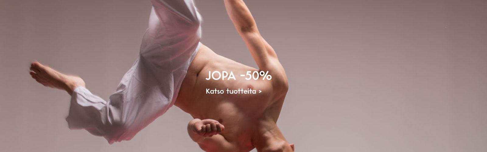 Jopa -50%